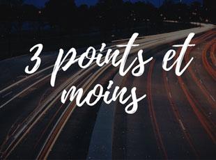 3 point et moins